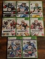 Lot of 8 Xbox 360 Madden Games 07 08 09 10 11 12 13 Madden 25