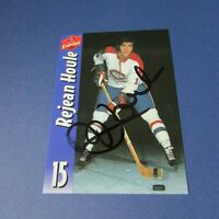 REJEAN HOULE  Montreal Canadiens  Molson Export  SIGNED  AUTO  card  1969-1983
