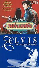 LOT DE 2 RARES CDS PROMO ELVIS PRESLEY- BACK TO THE 50'S & 60'S -TWELTH OF NEVER