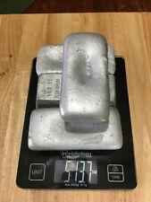 4 Aluminum Ingots / Bars - Total 5LB 13 oz Hand Poured - Lot 10
