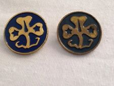 X 2 (WAGGGS PIN) Vintage Girl Scouts Guides World Association International.