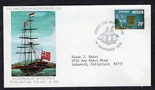 NETHERLANDS ANTILLES 1976 FIRST DAY COVER PLAQUE FORT ORANJE MEMORIAL SHIP FLAG