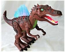 Walking Dinosaur Spinosaurus Light Up Kids Led Toy Figure Sounds Real Movement
