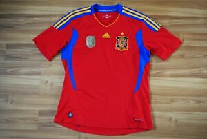 SPAIN NATIONAL TEAM HOME FOOTBALL SHIRT 2011-2012 JERSEY SIZE LARGE FIFA PATCH