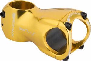 """Promax S-29 Stem - 60mm, 31.8 Clamp, +/-0, 1 1/8"""", Aluminum, Gold"""