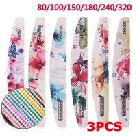 Flower Nail Files Sanding Buffer Washable Pedicure Manicure Nail Care Tools-