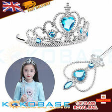 Crystal girl princess wand set dressup facelift crown costume kid pretend toy