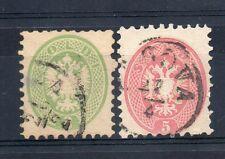 FRANCOBOLLI ANTICHI STATI 1864 LOMBARDO VENETO 3+5 SOLDI Z/2597