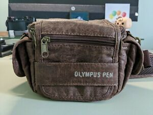 Olympus PEN Leather Camera Bag for Olympus OM-D and PEN cameras - Brown leather