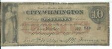 1862 10 Cents Delaware City Wilmington Civil War North Red O/P Low Serial #849