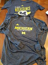 Adidas Michigan Wolverines Boys XL 2 shirts Excellent