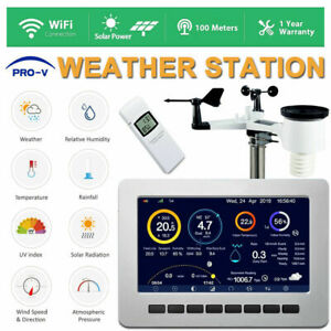 Weather Station WiFi Wireless Professional Solar Powered UV Indoor Outdoor Alarm