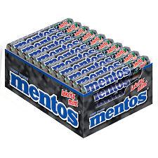 40 x Rolls of mentos - Licorice-Mint (= 1,52kg / 3.3 lbs / 53.61oz) **NEW**