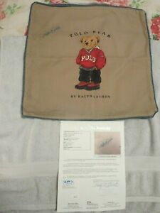 DEREK JETER SIGNED RALPH LAUREN PILLOWCASE JSA LOA, THE ONLY ONE ON EBAY $$$$$