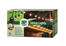 10-Socket Outdoor String Light Set Heavy Duty Garden Patio Gazebo Lighting Decor