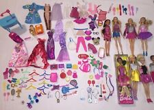 Barbie Lot Of Dolls Clothes Shoes Brushes Cameras Purses + Many More Accessories