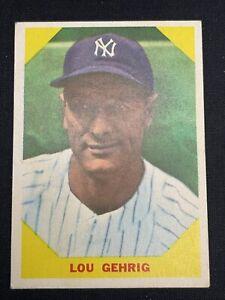 1960 Fleer LOU GEHRIG Yankees #28 EX MINT