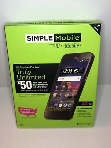Simple Mobile ZTE 2 4G Android Smartphone NEW