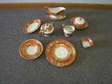 """Vintage Epiag Czechoslovakia """"Lucifere"""" #7149 Porcelain Dinnerware 37 Pcs VGC"""