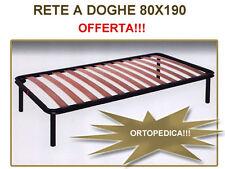 RETE SINGOLA ORTOPEDICA A DOGHE DI FAGGIO 80X190 PER MATERASSO SINGOLO