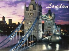 "LONDON ENGLAND TOWER BRIDGE FRIDGE COLLECTOR'S SOUVENIR MAGNET 2.5"" X 3.5"""