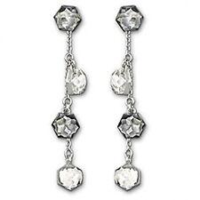Swarovski Swan Signed Media Earrings Pierced Bnib 1144251