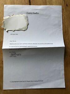 Deceased Laura Sadler Holby City Grange Hill Inscribed signed photo/autograph