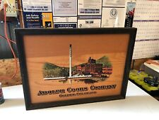 Adolph Coors Beer Company Golden Colorado Brewery Factory All Wood 18 By 25 Sign