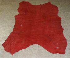 New listing (Uya7064-10) Hide of Red Pebble Grain Cow Leather Hide Skin