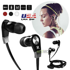 Cell Phones 3.5mm In-ear Headphone Headsets Earphone With Mic for HTC Sony Black