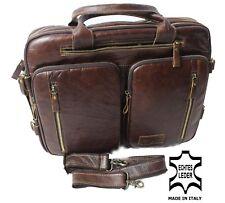 Echtes Leder Aktentasche Schultertasche Braun Messengertasche Umhängetasche 170