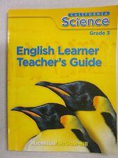 California Science Grade 3 English Learner Teacher's Guide Macmillan 0022859748