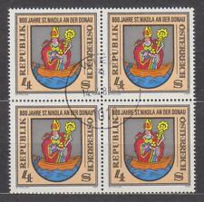 1981 , St. Nikola an der Donau ( Mi.Nr.: 1693) 4-er Block gestempelt mit Gummi
