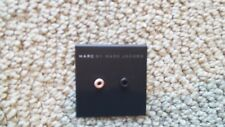 New Marc Jacobs Peep Hole Round Black Blush Earring Ear Rings Studs Unique