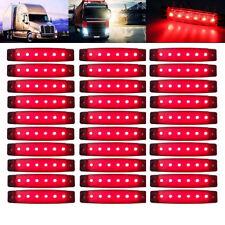 "30x 3.8"" 6 LED Side Marker Red Clearance Trailer Lights Lamp Indicator Truck 12V"