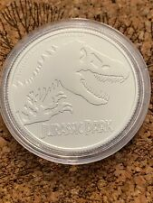 2020 NIUE Jurassic Park Dinosaur 1oz Silver Proof-Like Mintage 10,000 Super Low
