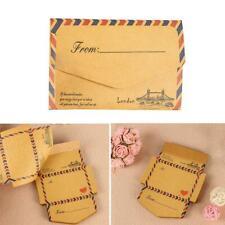 45pcs Mini Retro Vintage Kraft Paper Envelopes Cute Cartoon Kawaii Paper