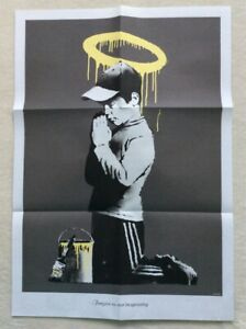 Banksy - 'Forgive Us Our Trespassing' - Folded. Original double sided poster