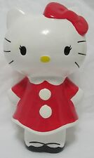 Sanrio Hello Kitty Red Dress and Bow Ceramic Coin Bank FAB Starpoint 9 1/2""