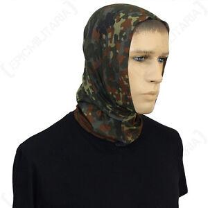 Flecktarn Multi Function Scarf - Snood Wrap Balaclava Head Scarf Band Military