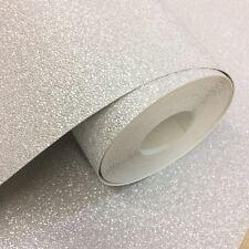 Carat Plain Textured Glitter Soft Silver Wallpaper 13348-20 by P S International
