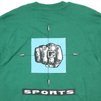 Vtg 90s Deadstock MTV T-Shirt Mens LARGE USA Made Hanes Single Stitch Fist Punch