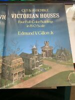 Victorian Houses, Cut & Assemble, 4 Full-Color Buildings in H-O Scale Dover
