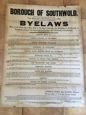 More details for borough of southwold byelaws cardboard sign