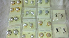 Pearl Mixed Metals Unbranded Clip - On Costume Earrings