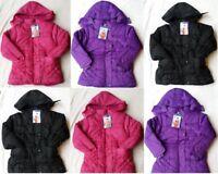 New Girls Kids Coat School Padded Puffa Warm Hooded Jacket Age 3 to 13 years