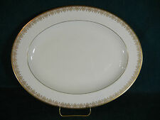 "Royal Doulton Gold Lace Oval 13 5/8"" Serving Platter"