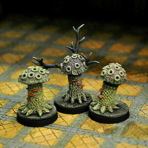 Otherworld Minis D&D -  SET OF SHRIEKERS & VIOLET FUNGI  (AWESOME SET and NEW!!)
