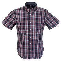 Warrior Mens Black/Red 100% Cotton Short Sleeved Shirts