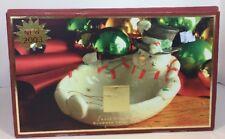 Lenox Occasions Snowman Treat Dish New 2003 Christmas Decorations